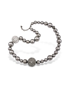 Mirror Polished Ball Necklace - AZ Collection