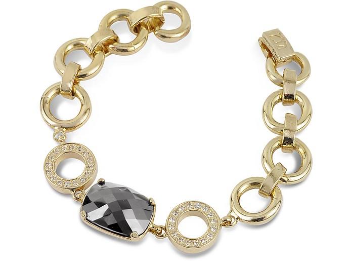 Armband mit goldüberzogener Kette und Kristall - AZ Collection
