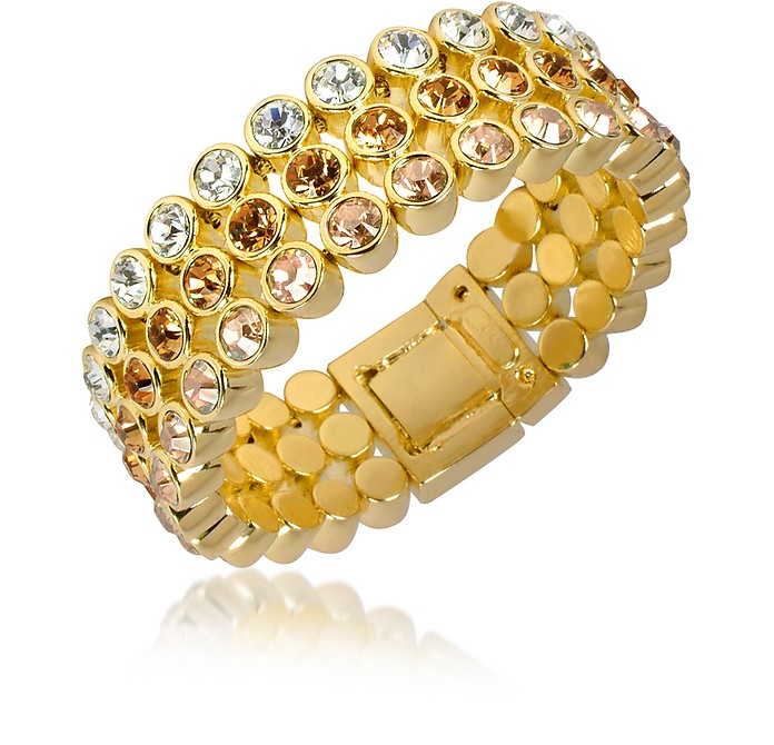Three-tone Crystal Bracelet - AZ Collection