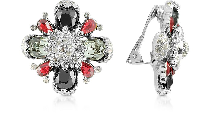 Flower Clip-On Earrings - AZ Collection