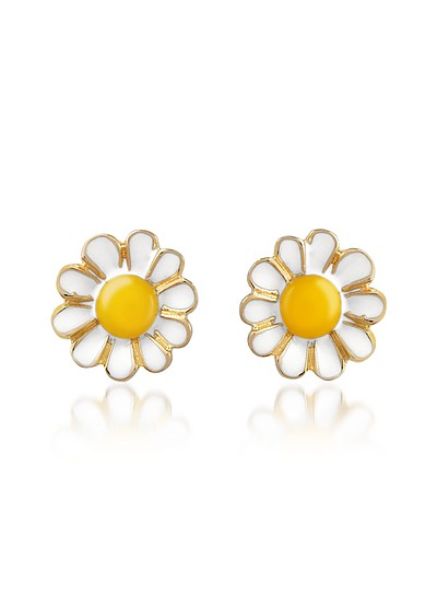 Garden Line - Daisy Enamel Earrings - AZ Collection