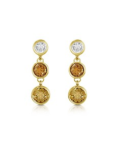 Three-tone Drop Earrings - AZ Collection