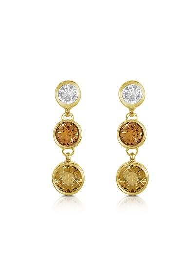 Three-tone Drop Earrings - AZ Collection