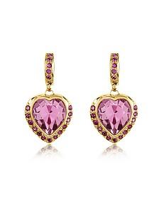 Ohrringe in Herzform mit Swarovskisteinen - AZ Collection