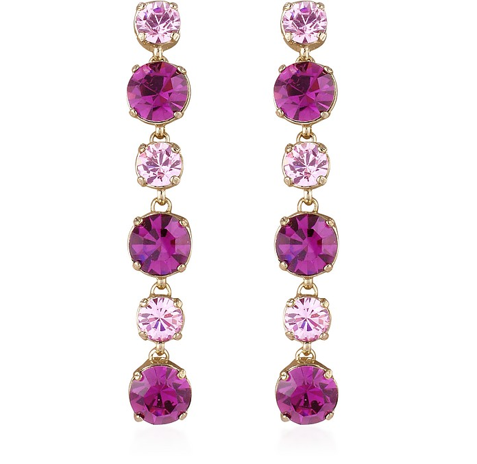 Pink & Amethyst Drop Earrings - AZ Collection