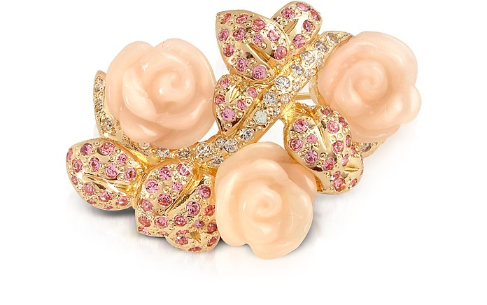 Pink Roses Brooch - AZ Collection