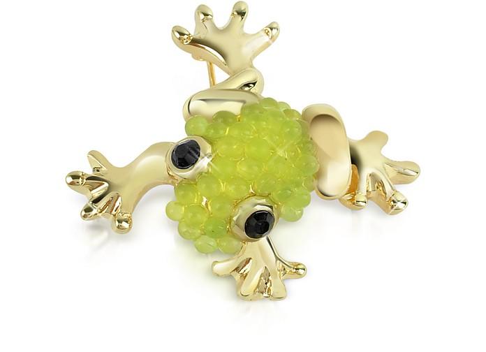 Light Green Frog Brooch - AZ Collection