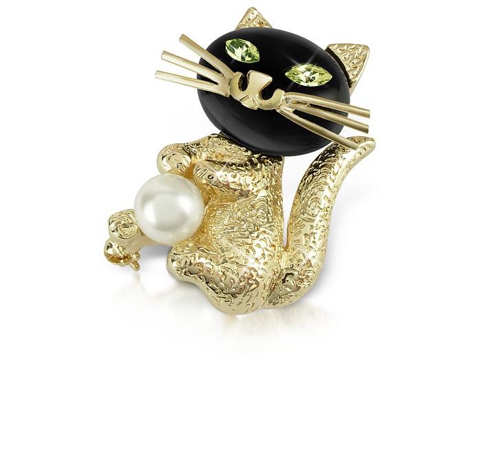 Green-Eyed Cat Pin - AZ Collection