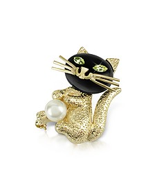 Green-Eyed Cat Pin - AZ Collection