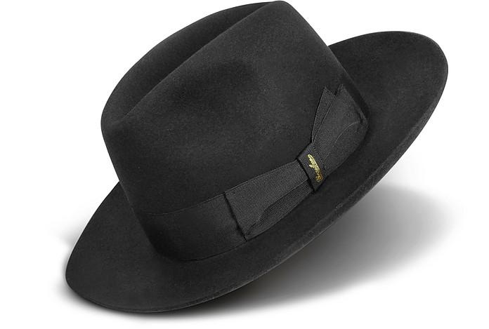 lusso cercare nuovi arrivi Cappello Fedora a Tesa Larga in Feltro Nero