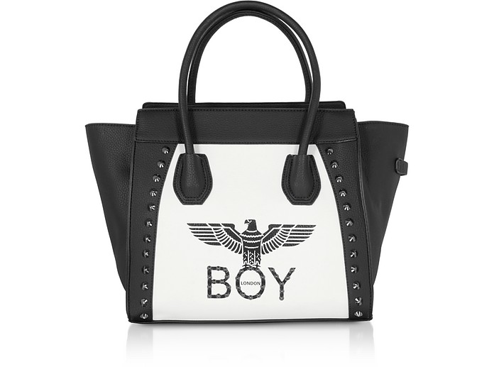 Shopping Bag con Logo Black & White - BOY London