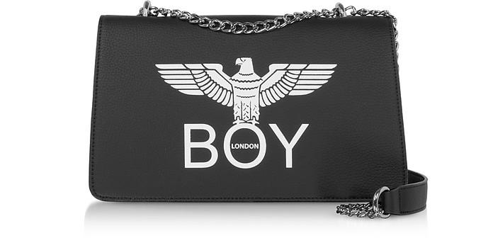 Borsa Nera con Tracolla e Maxi Logo - BOY London