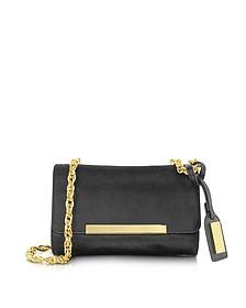 Justine Solid Haircalf Handbag Black