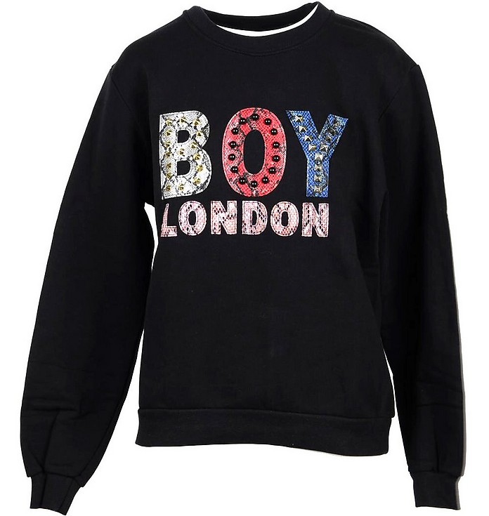 Boy London Black Cotton Women's Sweatshirt