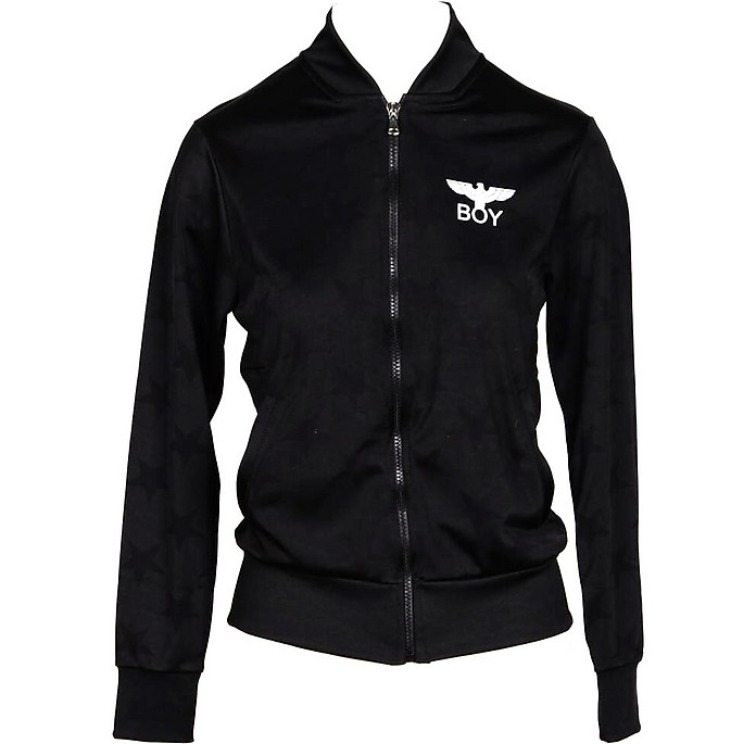 Black Signature Zip Up Sweater - BOY London
