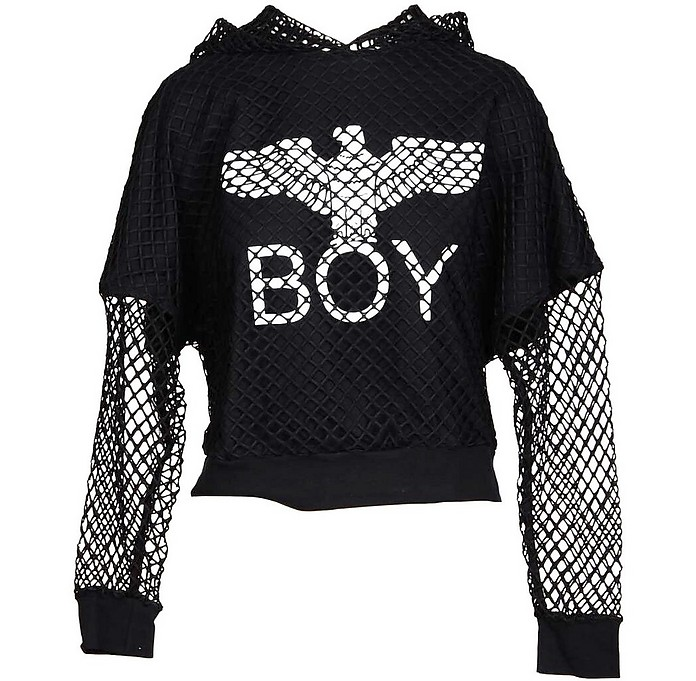 Black Double Tee Hoodie - BOY London