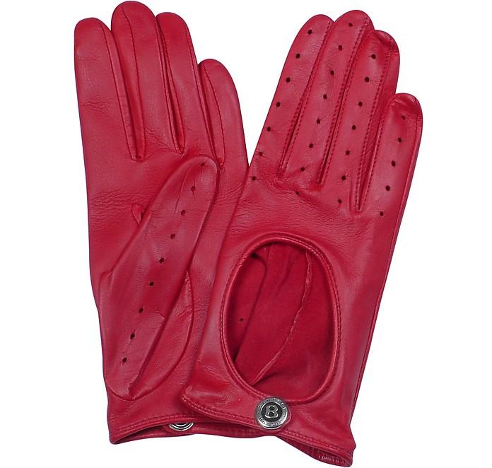 Dents Pittards Cabretta Red Driving Ladies Gloves - Bentley