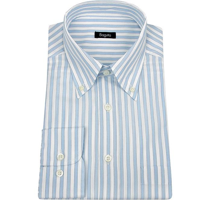 button a down 40 su e bianche FORZIERI Bagutta chiaro righe blu Camicia BF6TRF