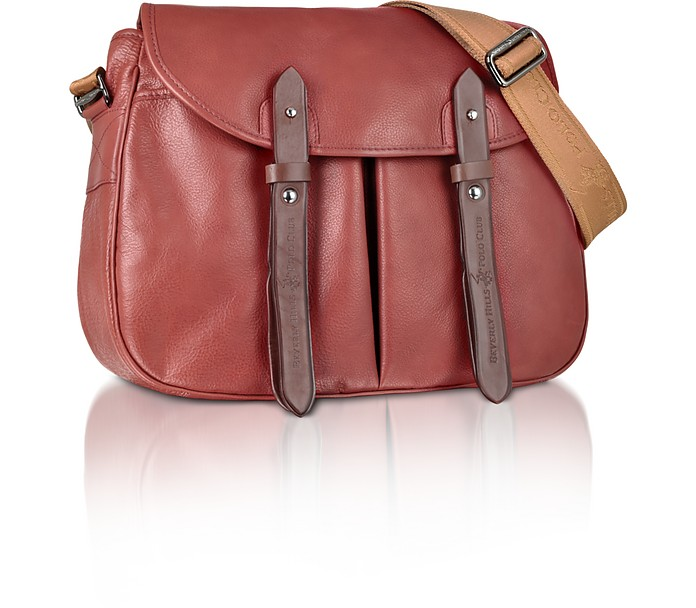 Beverly Hills Polo Club Brown Leather Messenger Bag at FORZIERI 891cc4e213