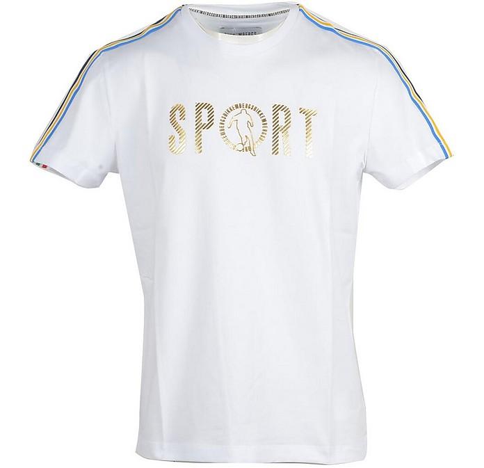 Men's White T-Shirt - Bikkembergs