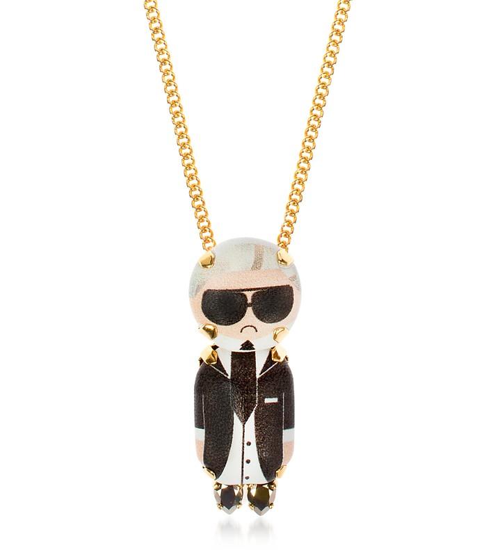 Karl Chain Pendant Necklace - Bijoux de Famille