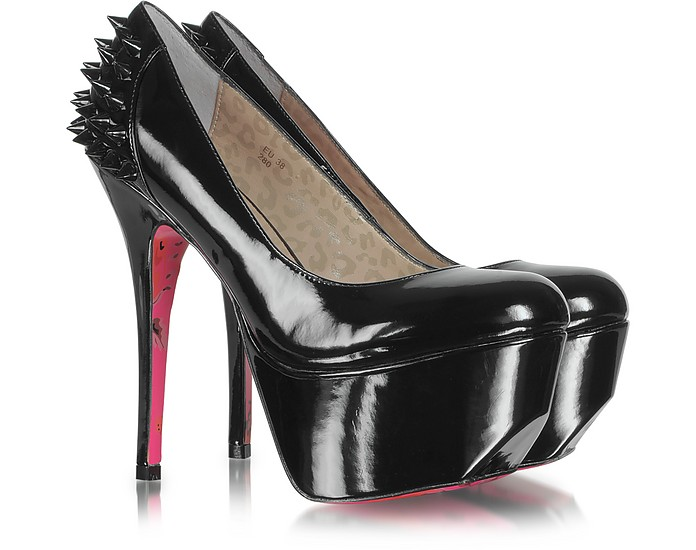 Ginger Black Patent Leather Platform Pumps - Betsey Johnson