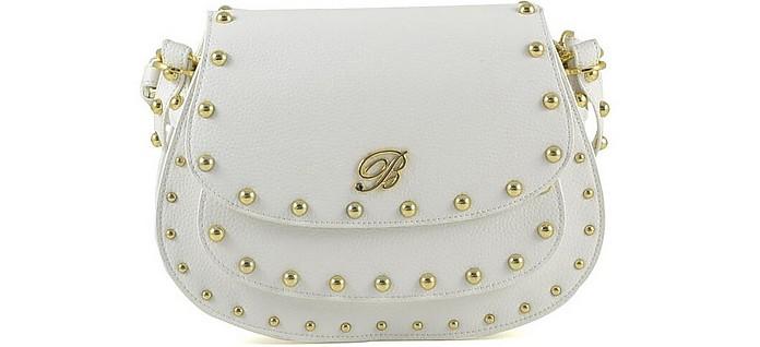Blumarine Andrea White Leather Crossbody Bag