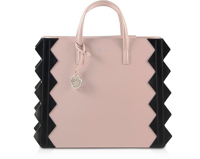 Color Block Zig-Zag Tote Bag - Blumarine