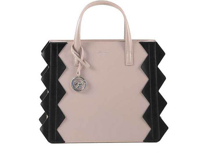 Small Color Block Zig-Zag Tote Bag - Blumarine