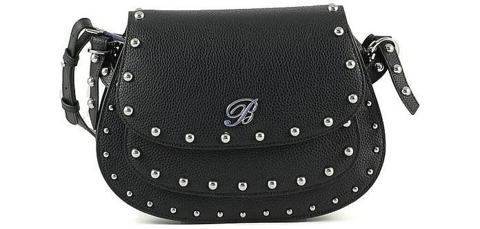 Andrea Black Leather Crossbody Bag - Blumarine