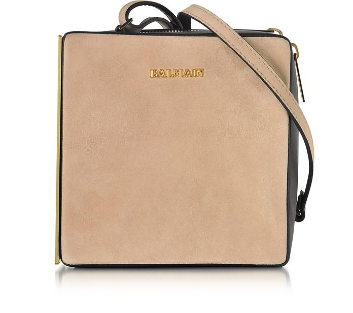 Pablito Nude Velvet Shoulder Bag - Balmain