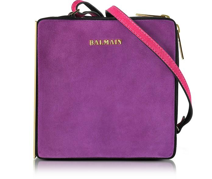 Pablito Purple Velvet Shoulder Bag - Balmain