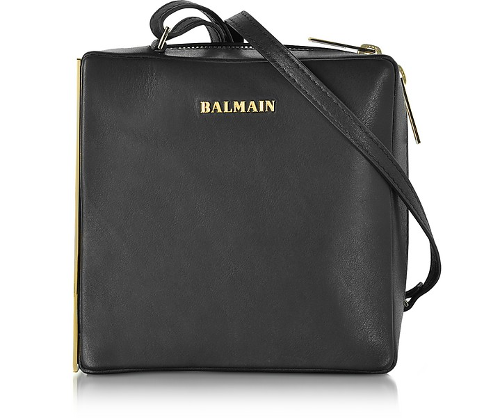 6a1cb3ffcf9a Balmain Pablito Black Leather Shoulder Bag at FORZIERI Canada