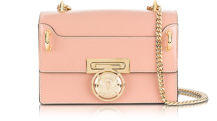 B.Box 20 Powder Pink Glossy Leather Flap Bag - Balmain