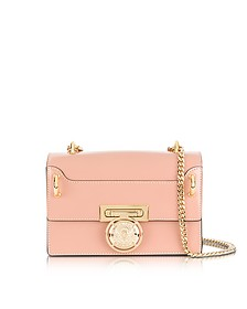 B.Box 20 Powder Pink Glossy Leather Flap Bag - Balmain