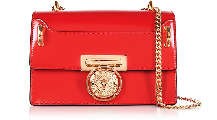 B.Box 20 Red Glossy Leather Flap Bag - Balmain