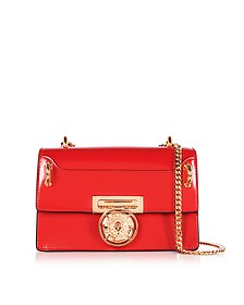 B.Box 20 Red Glossy Leather Flap Bag - Balmain