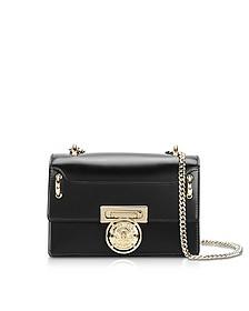 B.Box 20 Black Glossy Leather Flap Bag - Balmain