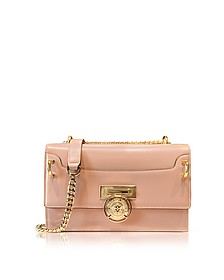 B.Box 25 Powder Pink Glossy Leather Flap Bag - Balmain