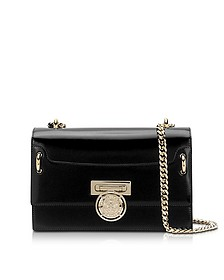 B.Box 25 Black Glossy Leather Flap Bag - Balmain