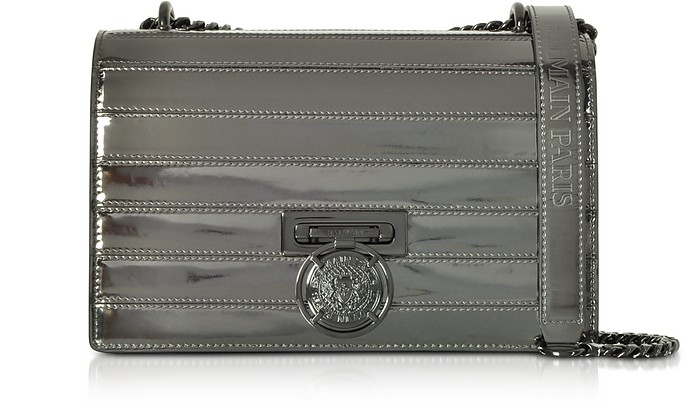BBox 25 Mirror-effect Leather Bag - Balmain