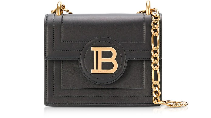 18 B-Bag - Черная Кожаная Сумка - Balmain