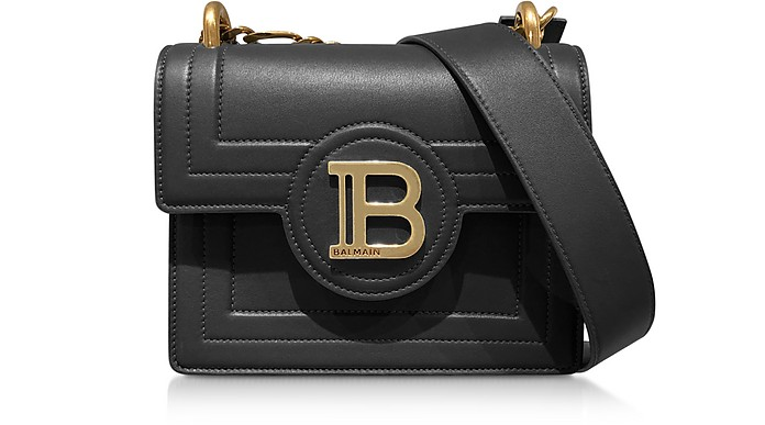 Black Leather 18 B-Bag - Balmain
