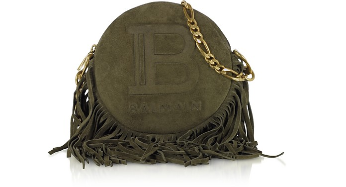 Suede, Leather and Fringes 18 Disco Bag - Balmain