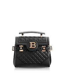 Black Quilted Leather 23 B-Buzz Satchel Bag