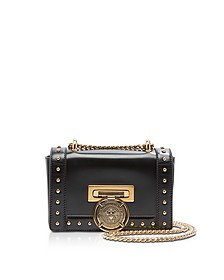Glossy Black Leather Baby BBox Flap Shoulder Bag - Balmain