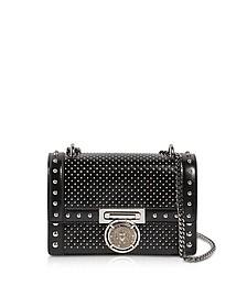Glossy Studded Black Leather BBox 20 Shoulder Bag - Balmain
