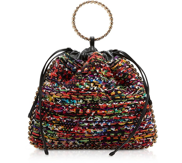 Multicolor Tweed Tricot B-Link Bracelet Backpack - Balmain