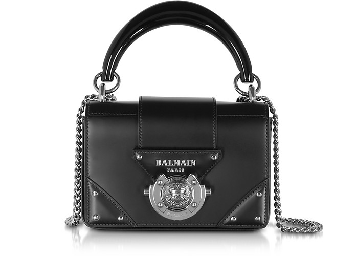 Leather Top Handle Mini Bag - Balmain