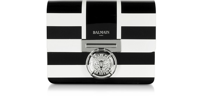 Sailor Stripe Plexiglass Bbox Shoulder Bag - Balmain